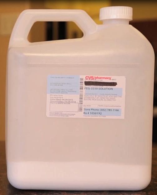 Suprep bowel prep kit.