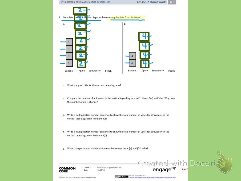 Grade 3 Module 6: Homework Lesson 2