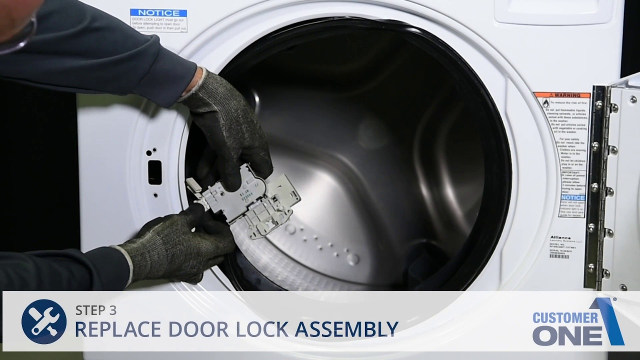 Replacing the Door Lock Assembly - Frontload Washer
