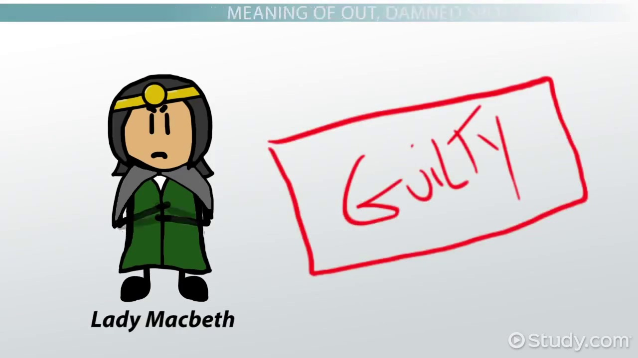 macbeth literary criticism video lesson transcript com out damned spot meaning overview