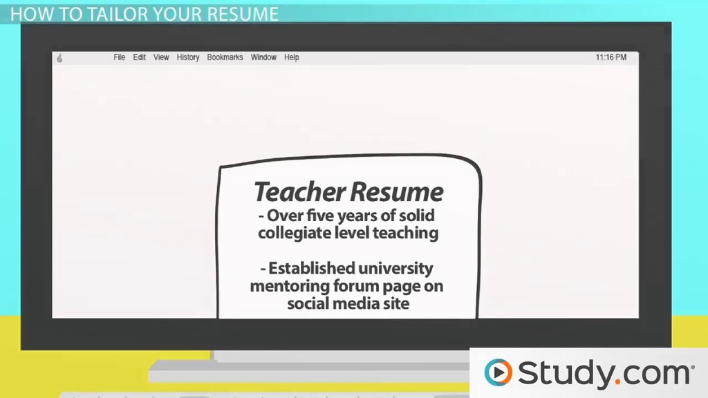 Tailoring The Content Of Your Resume For A Job   Video U0026 Lesson Transcript  | Study.com