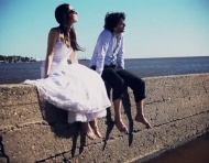Trash the dress en Colonia del Sacramento, Uruguay