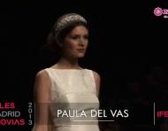 Paula del Vas 2013. Desfile colección novia en Cibeles Madrid Novias
