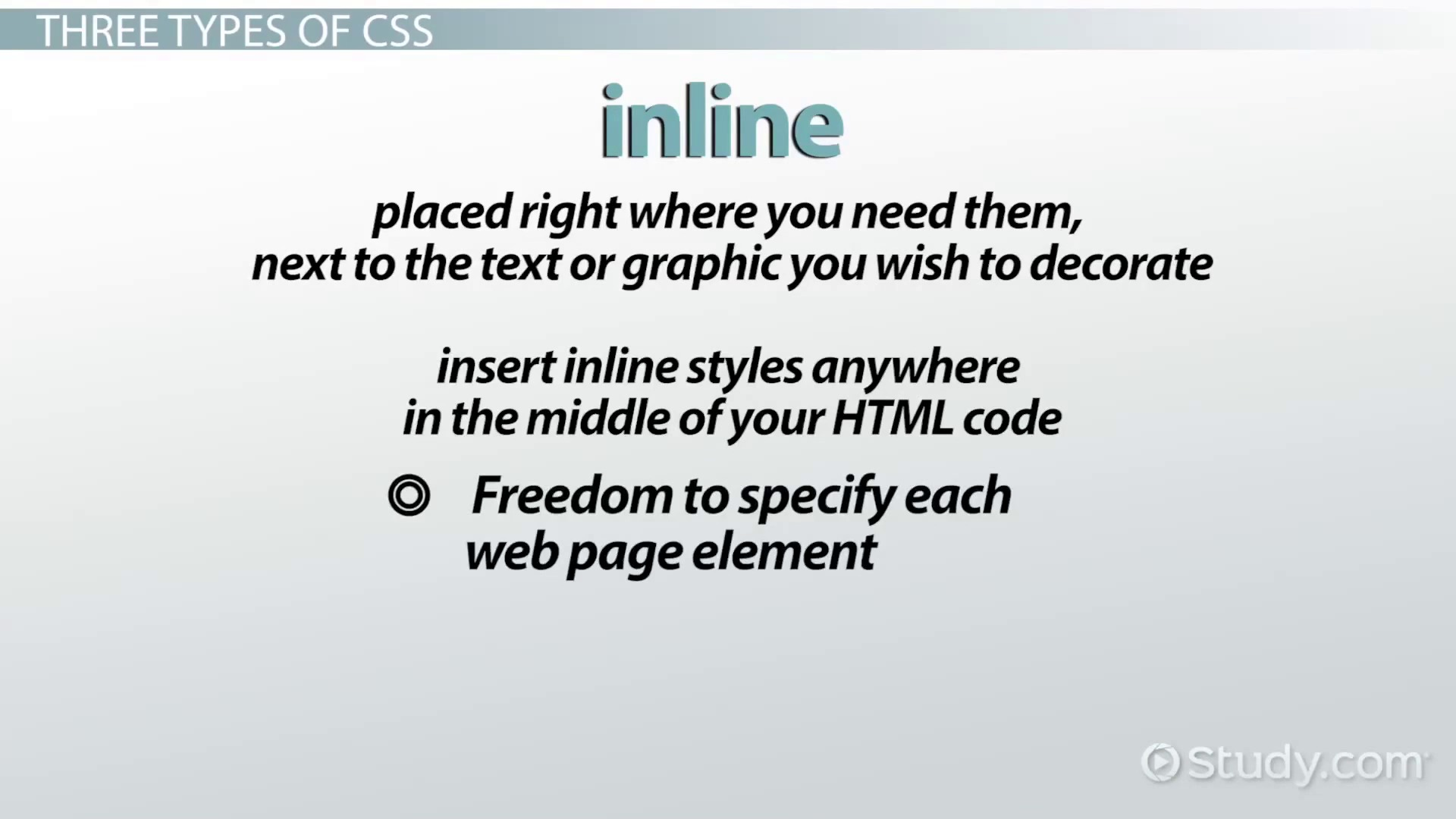 Cascading style sheets css definition types examples video lesson transcript study com