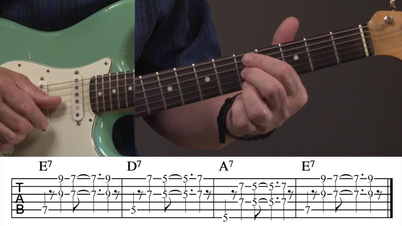 Blues Rhythm Guitar Riff