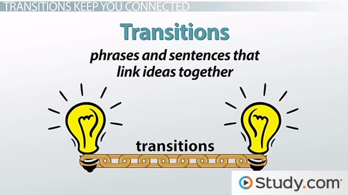 types of transitions in essays