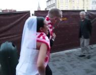 Teledysk ślubny fanów piłki nożnej