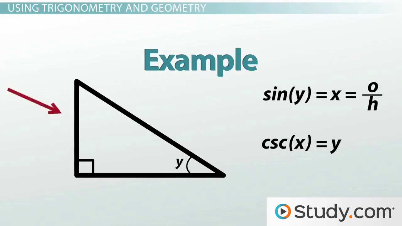trigonometry sine and cosine video lesson transcript com trigonometry and the pythagorean theorem