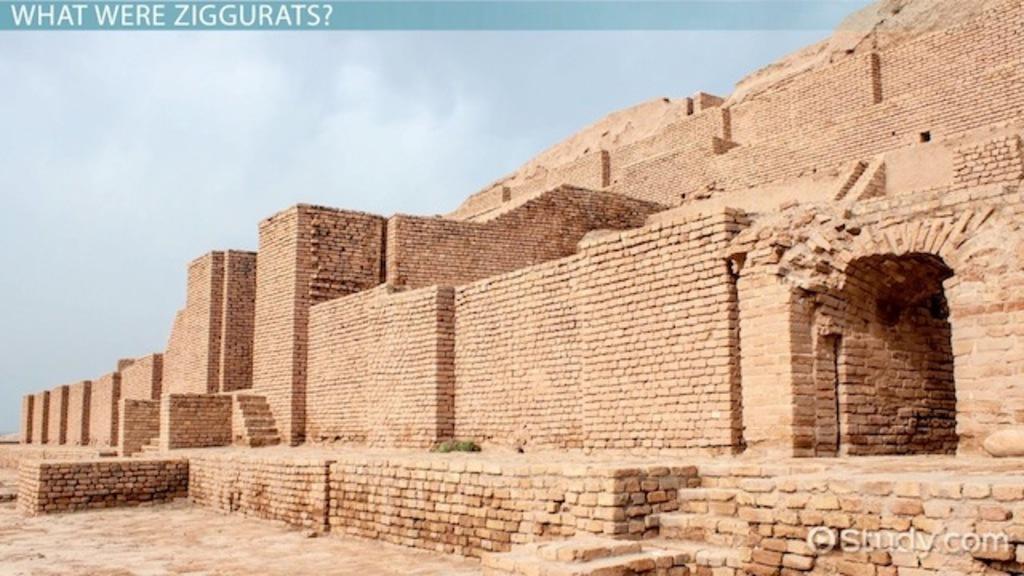Ancient Mesopotamian Architecture mesopotamian ziggurat: definition & images - video & lesson