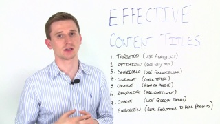 8 Ways To Create Effective Content Titles