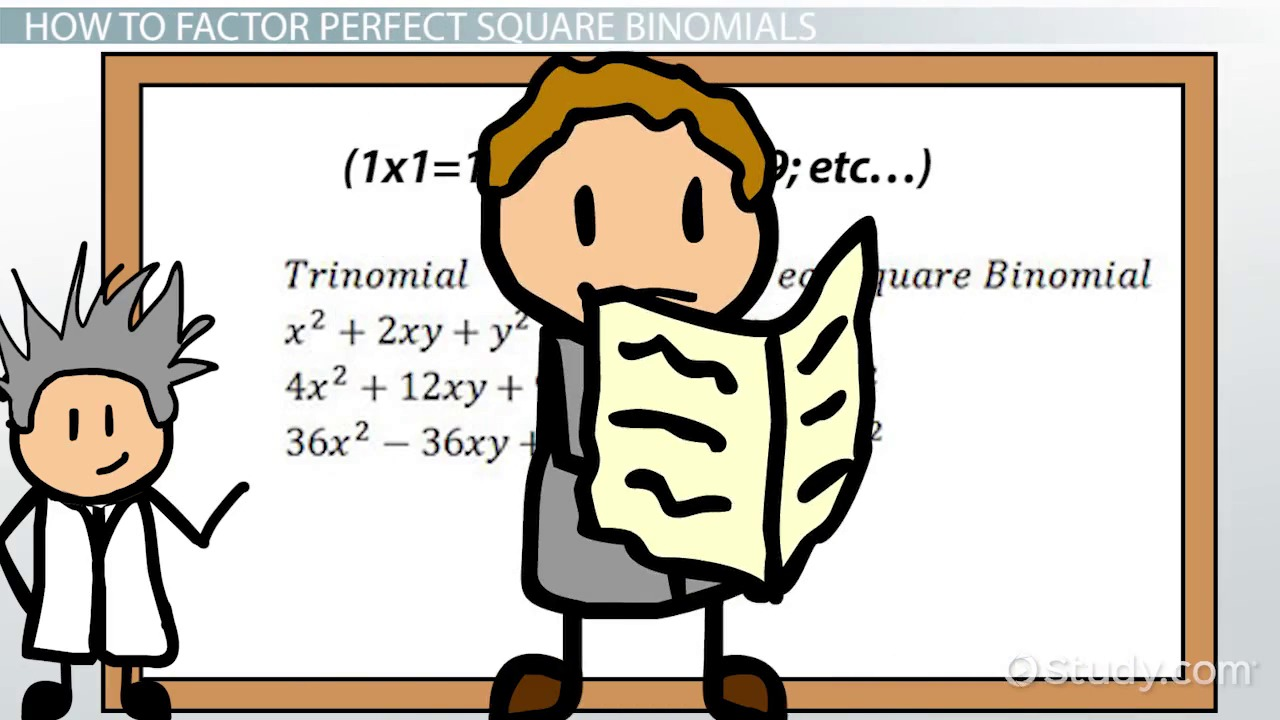 Perfect Square Binomial: Definition & Explanation  Video & Lesson  Transcript  Study