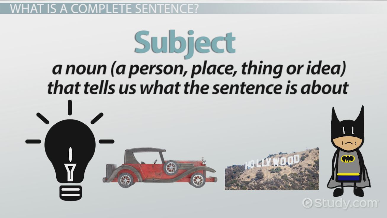 Complete and incomplete sentences examples overview video complete and incomplete sentences examples overview video lesson transcript study robcynllc Images