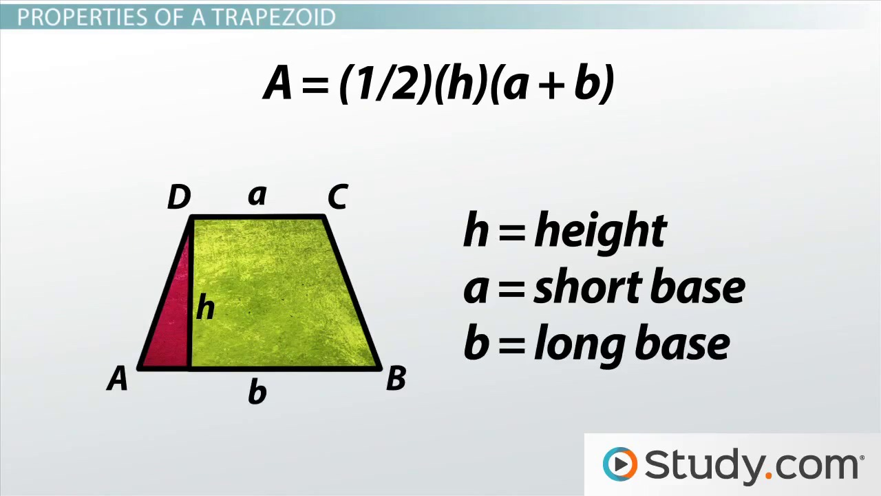 How To Find Surface Area Of A Pyramid Trapezoid: Definition, Properties &  Formulas