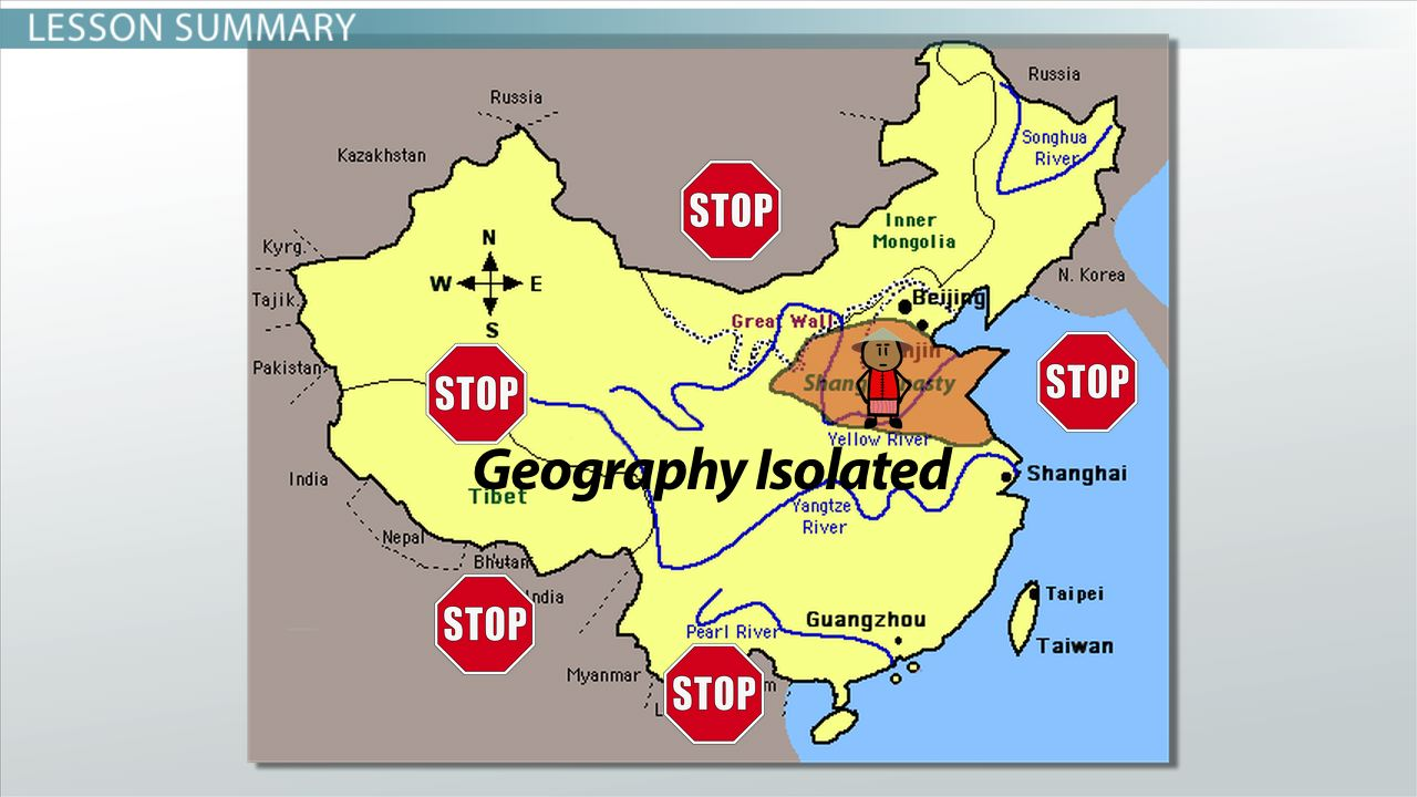 How Geography Isolated Ancient China Video Lesson Transcript – Ancient China Map Worksheet