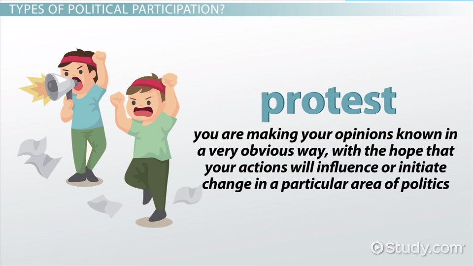 in what ways has political participation Other forms of political participation besides voting, there are many other ways to take part in politics, each involving varying amounts of skill, time, and resources.