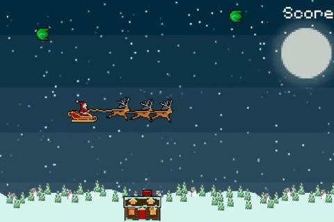 Droppin' Santa - an 8bit retro Xmas game.