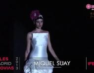Miquel Suay colección novia 2013. Desfile Cibeles Madrid Novias