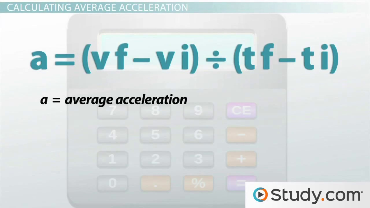Define motion study - What Is Acceleration Definition And Formula