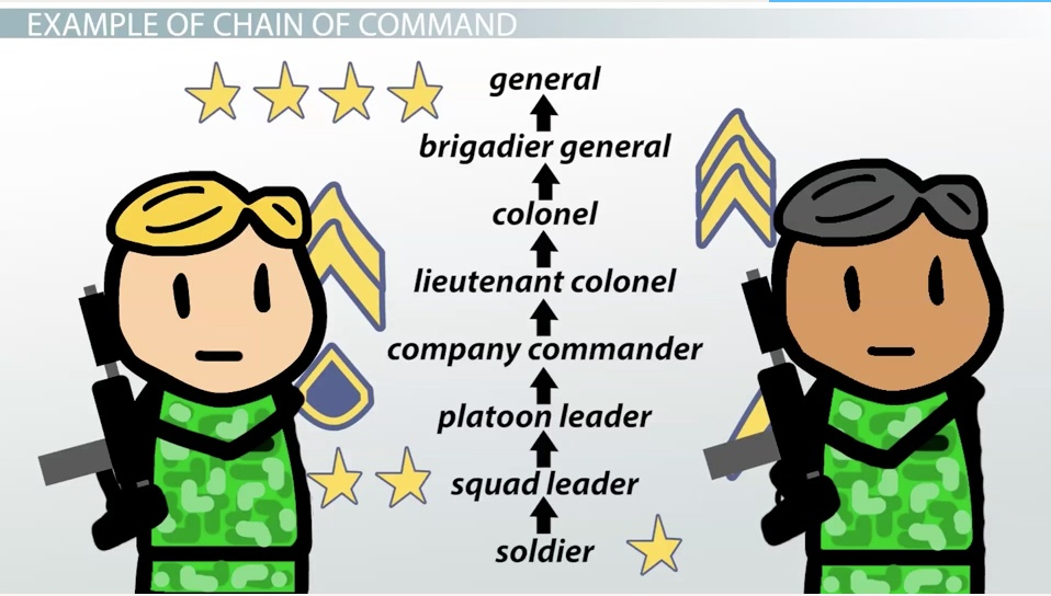 chain of command definition examples video lesson chain of command definition examples video lesson transcript com