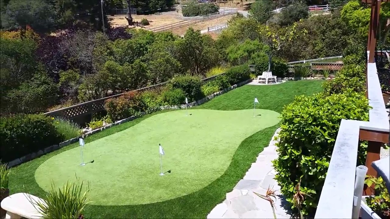 install your own backyard putting green l putting green turf