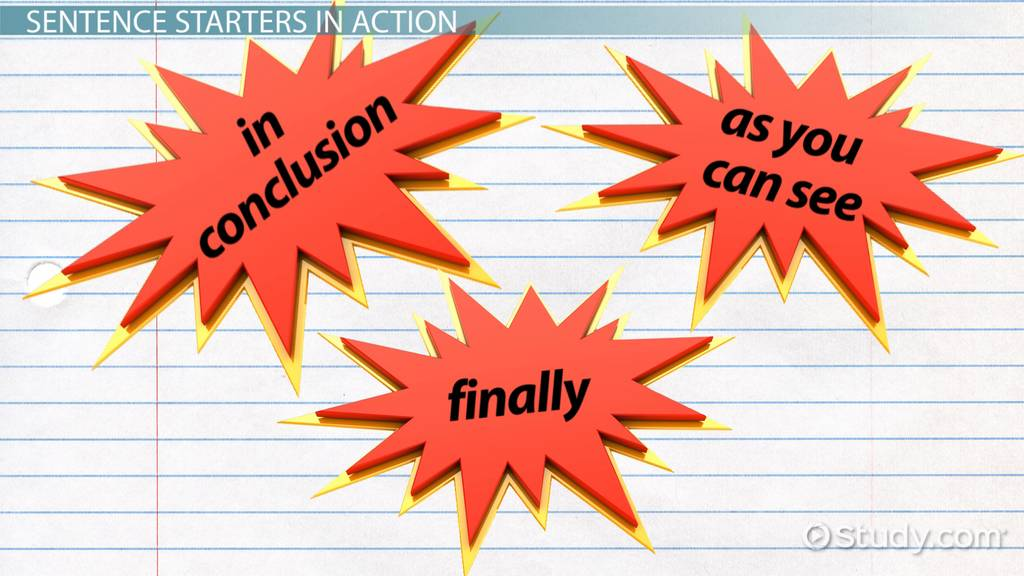 conclusion paragraph starters video lesson transcript com