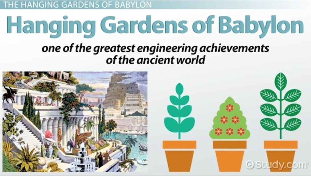 Hanging Gardens of Babylon: History, Facts & Location - Video & Lesson Transcript | Study.com