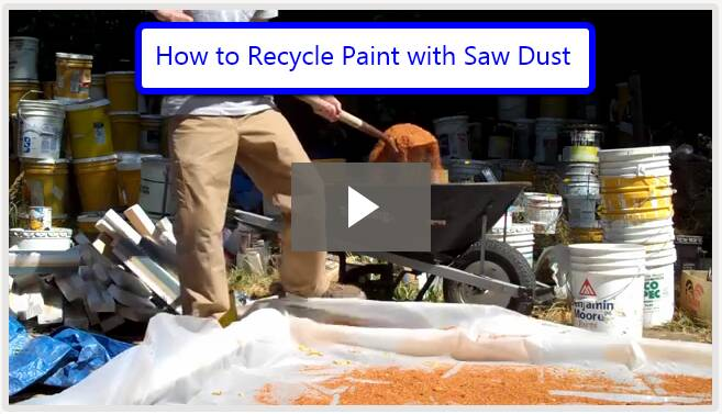 dispose of paint with saw dust