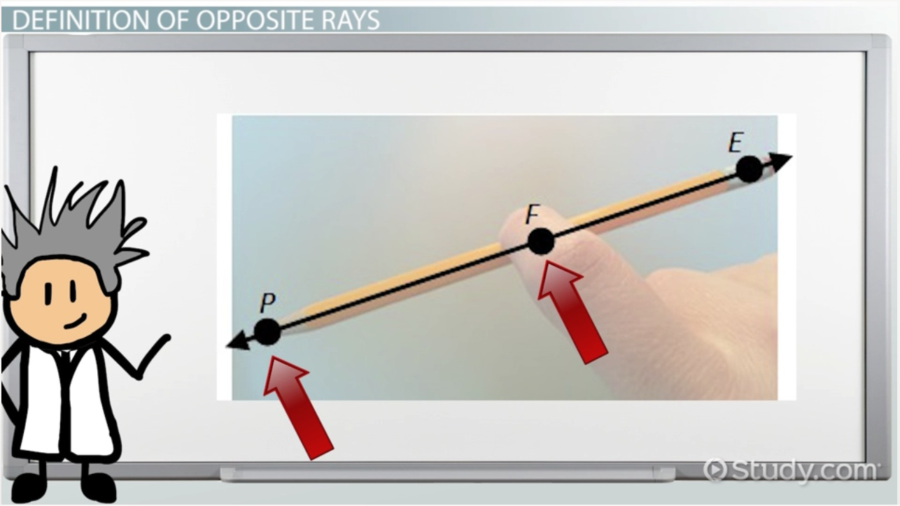Opposite Rays in Geometry: Definition & Example - Video & Lesson ...