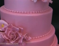 Pink Ombr Wedding Cake | Pink Cake Box