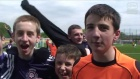 Having fun at local disability football festival