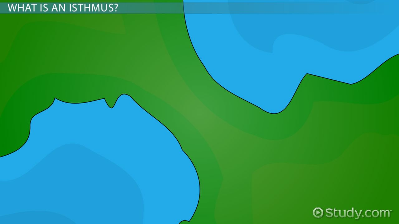 isthmus landform definition and examples video u0026 lesson