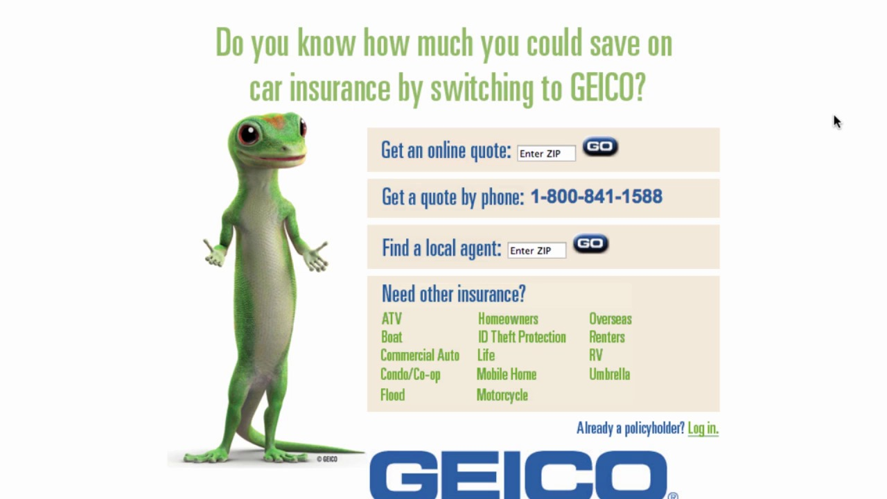 Gieco Quote Geico Landing Page Tunedup