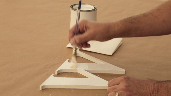 how to paint outdoor wood letters with a brush