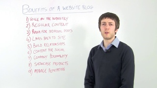Nine Benefits Of Having A Blog On Your Website