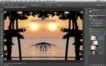 Flip Horizontal - Imagem com simetria no Photoshop