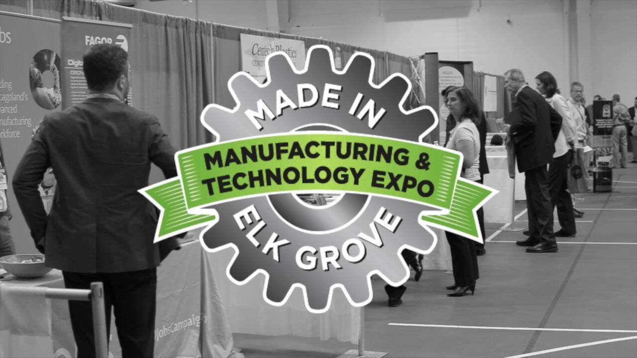 Made in Elk grove expo logo with booth at show in background