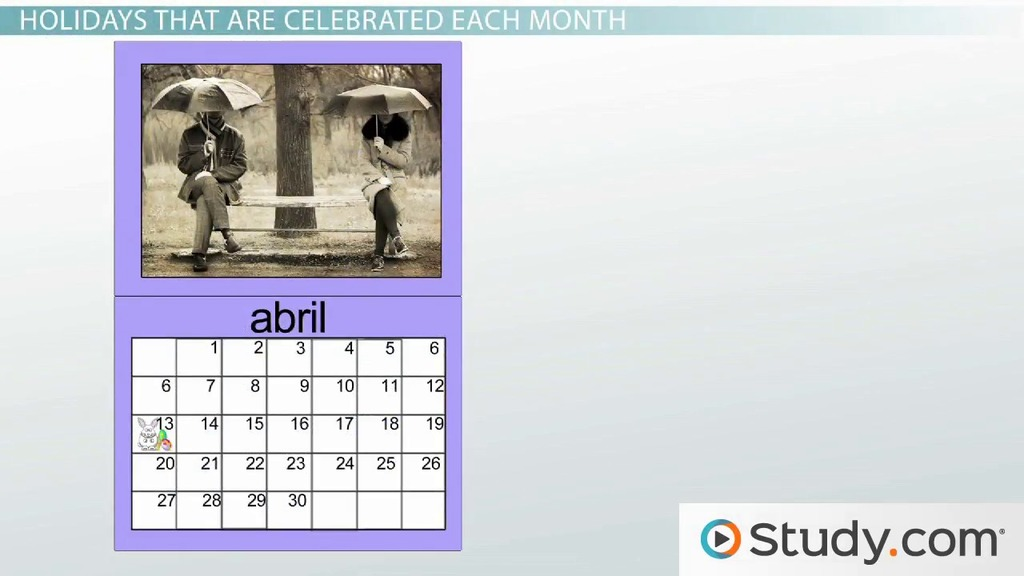 What Are the Months in Spanish? - Video & Lesson Transcript ...