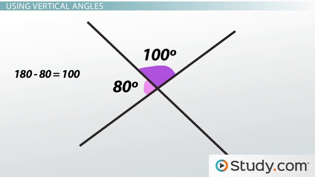 Vertical Angles & Complementary Angles: Definition & Examples ...