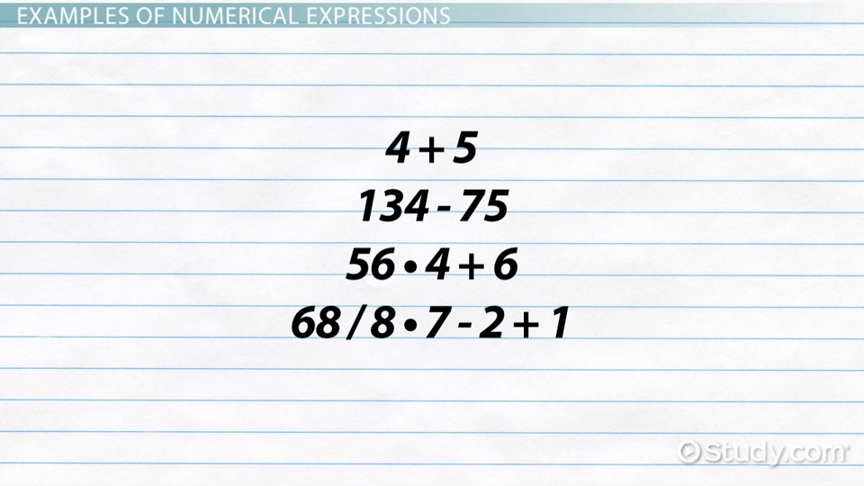 How to Write a Numerical Expression? - Definition & Examples ...
