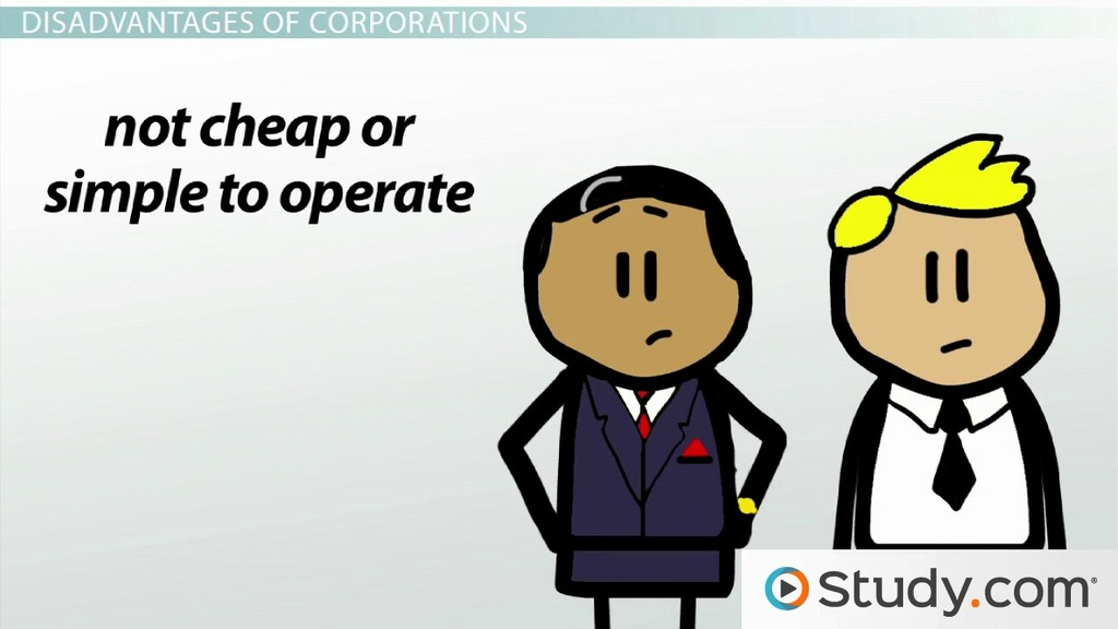 Corporations: Types, Advantages, Disadvantages & Examples - Video ...