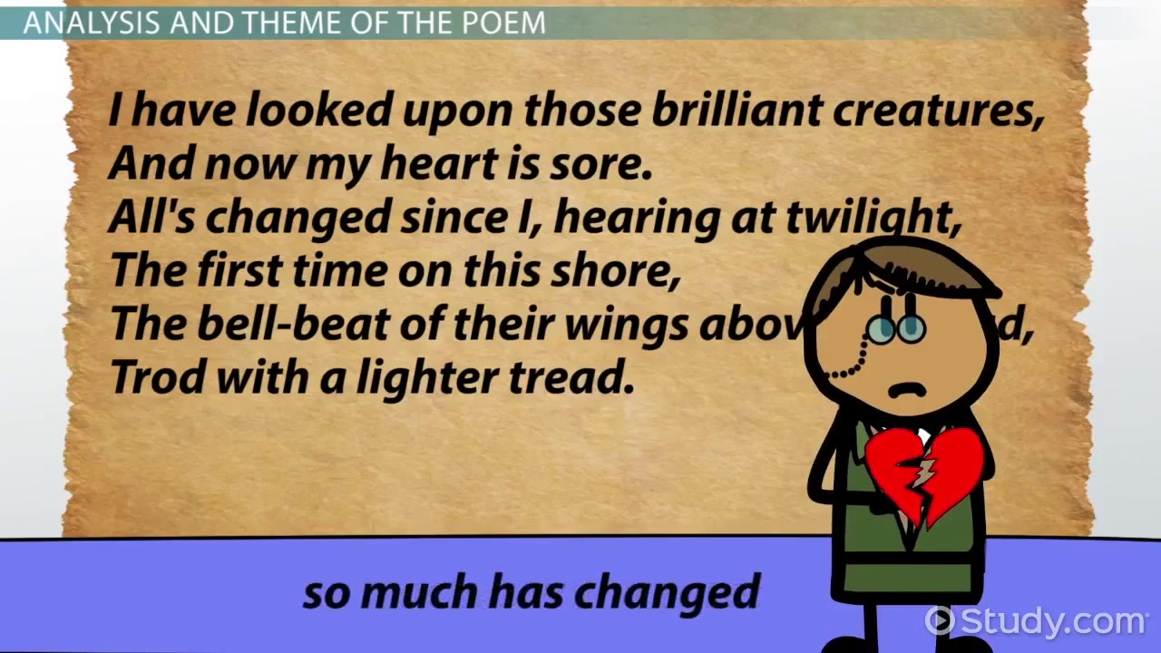 james joyce s araby summary analysis video lesson the wild swans at coole by yeats summary poem analysis theme