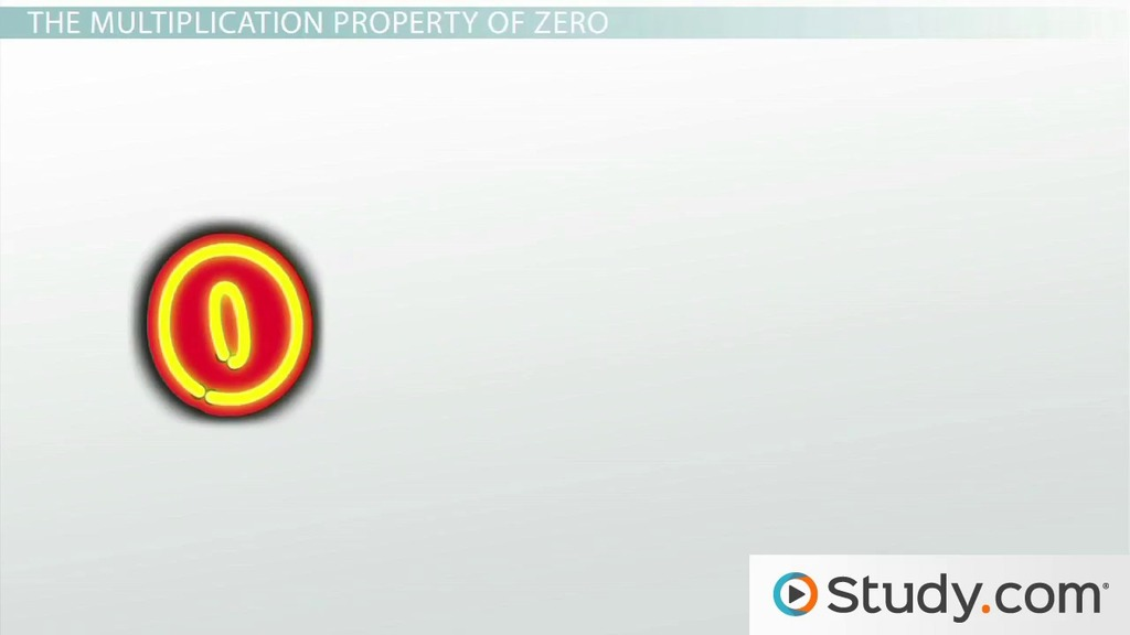 The Multiplication Property of Zero Definition Examples Video – Properties of Multiplication Worksheet