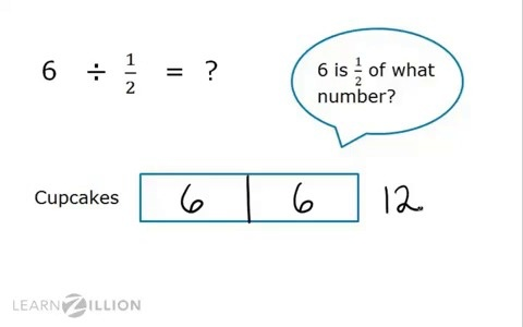 Use visual models for division of whole numbers by unit