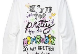 JC Penney - Too Pretty to do Homework T-Shirt thumbnail