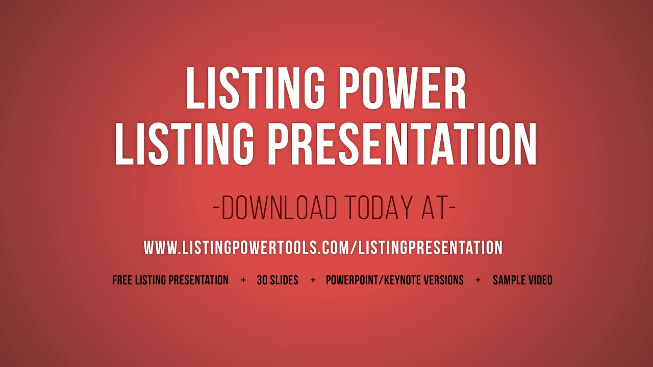 free listing presentation template tutorial listing power tools