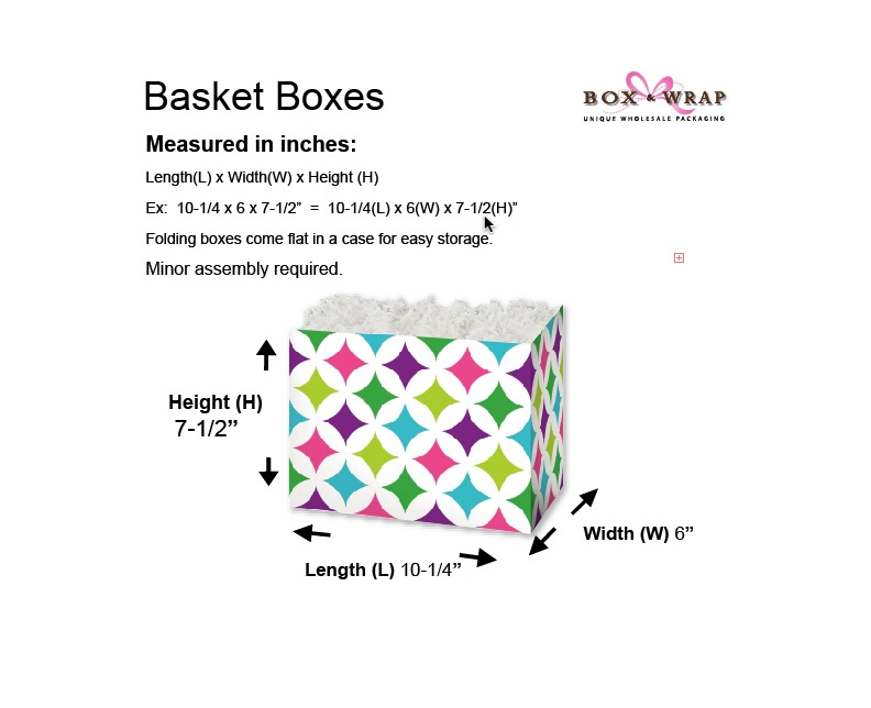 Measuring Guide - Basket Boxes   Box and Wrap