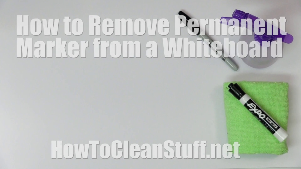 How To Remove Permanent Marker From A Dry Erase Board How To Clean