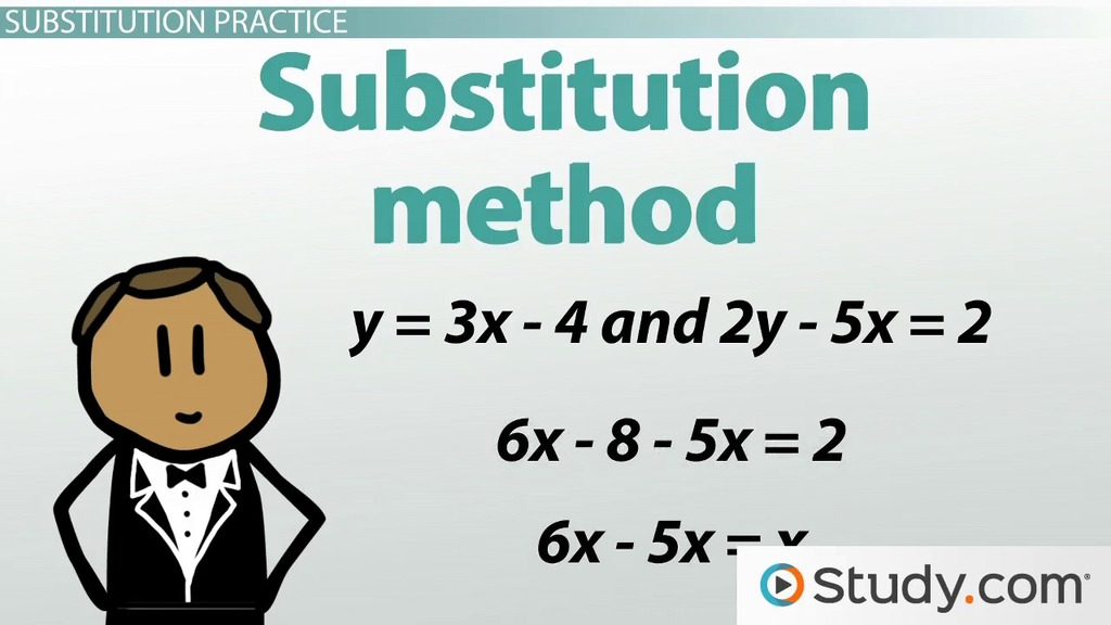 Solving a System of Equations with Two Unknowns Video Lesson – Solving Systems of Linear Equations by Substitution Worksheet
