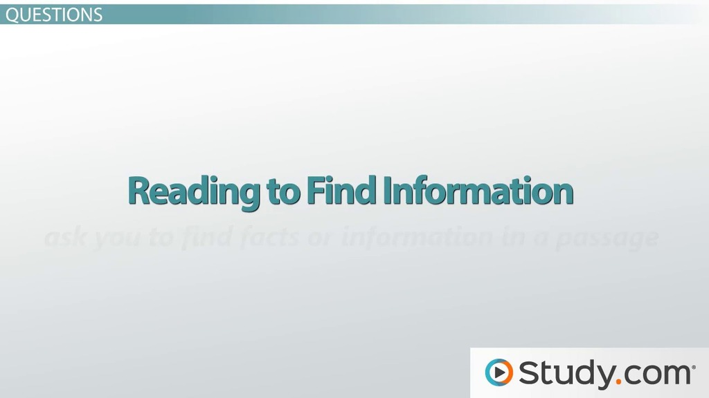Structure of the TOEFL Reading Section - Video & Lesson Transcript ...