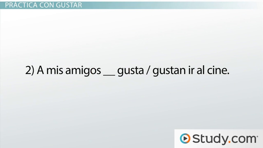 Spanish Grammar Verbs Like Gustar Video Lesson Transcript – Verbs Like Gustar Worksheet